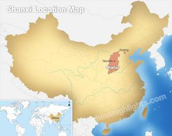 Shanxi's location in China