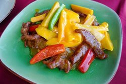 Tenderloin Cooked with Mangos