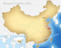 Jiangsu's location in China