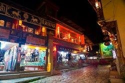 Shopping Streets at Night in Shangri-la