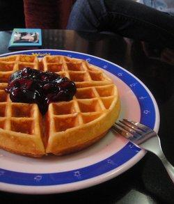 The Strawberry Waffle of Haikou Coffee World
