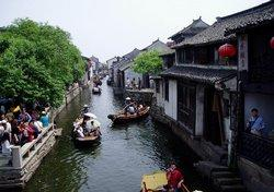 The Boats Running on the River in Zhouzhuang