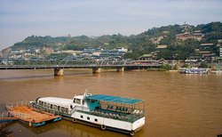 The Ships on the Yellow River in Lanzhou, Gansu Province