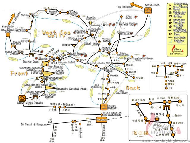 Yellow Mountain Tourist Map