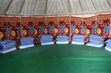 Inside  the Yurt beside Lake Karakuli
