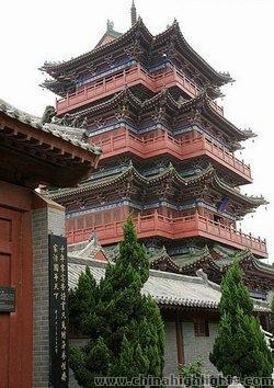 The Ancient Pagoda in Shaolin Temple
