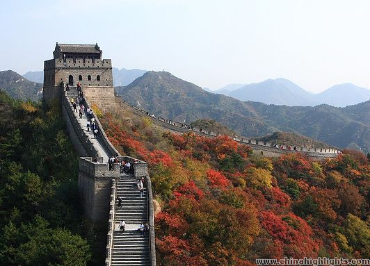 Take a Great Wall walk with fall foliage