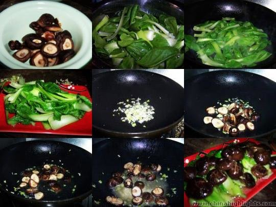 Green Vegetables with Mushrooms