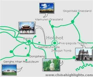 Hohhot City Center Map