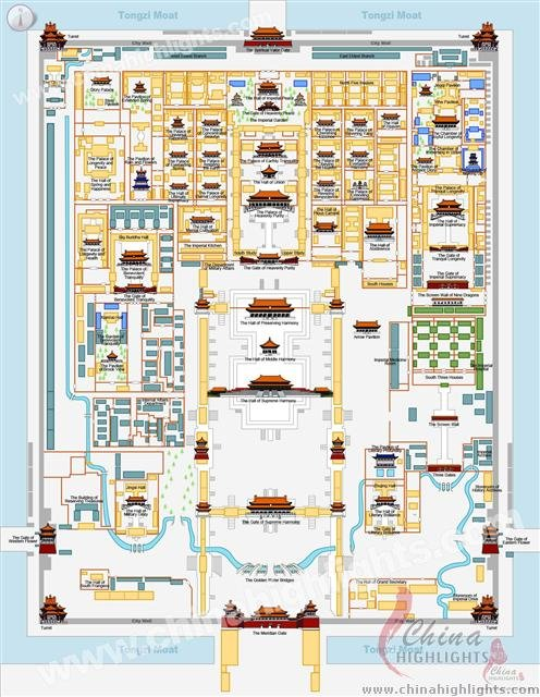 Beijing Forbidden City Map