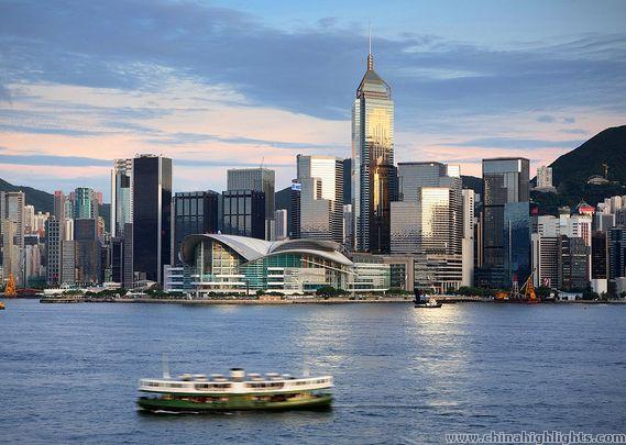 hong kong island skyline