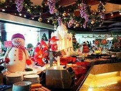 Christmassy restaurant in China