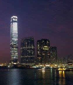 Hong Kong ICC Tower at Night