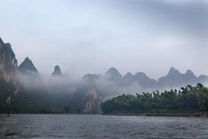 The Li River Covered by Mist