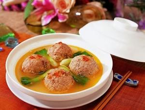 Steamed Large Crab Meatballs