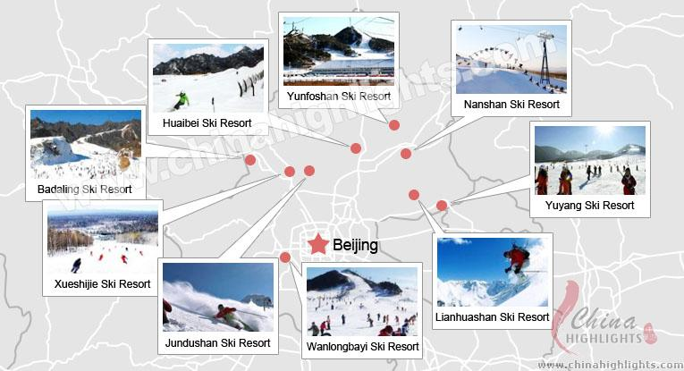 Beijing Ski Resorts Map