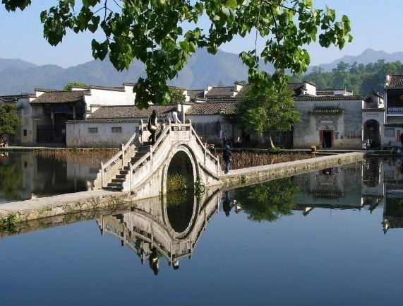 Picturesque scenery of Hongcun Village
