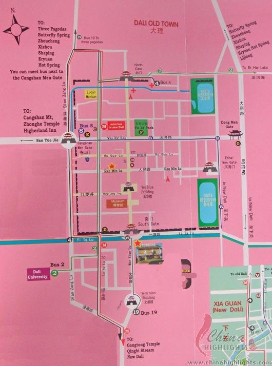 Dali Attractions Map