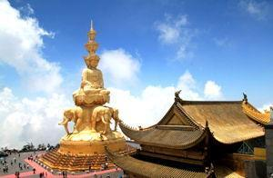 The Buddhist temples on Mt. Emei