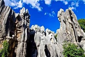 The scenery of Stone Forest World Geopark