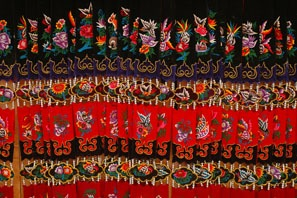 Delicate Miao embroidery work