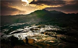 Sunrise of Terrace Field in Yuanyang
