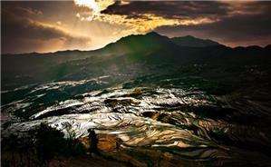 Sunrise of Terrace Field in Yuanyang