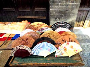 hand-painted paper fans