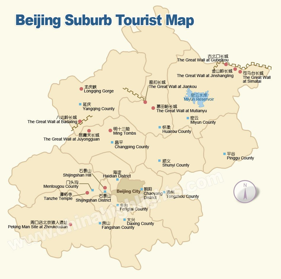 Beijing Area Map