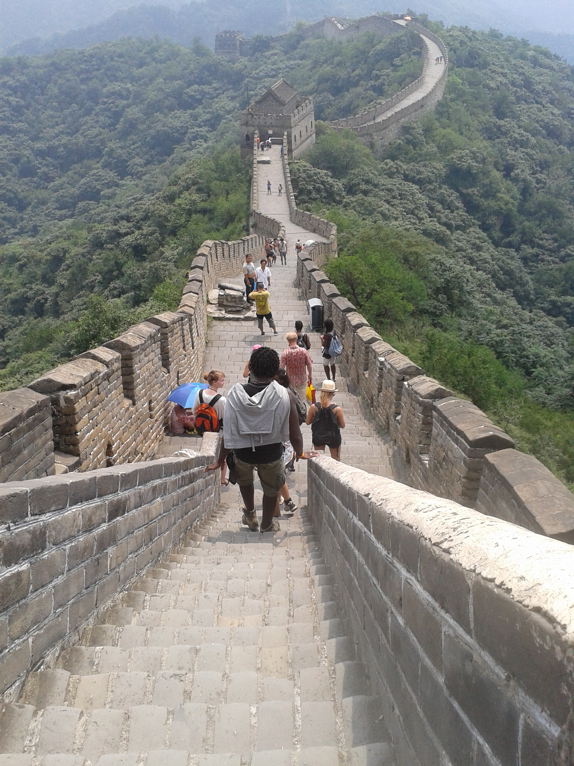 Great wall in summer