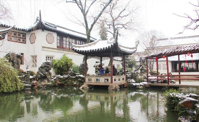 Beautiful scenery of winter in Suzhou