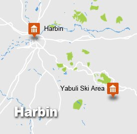 Harbin Yabuli Ski tour map