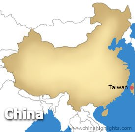 Taiwan Location Map