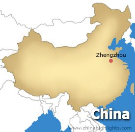 Zhengzhou Location Map