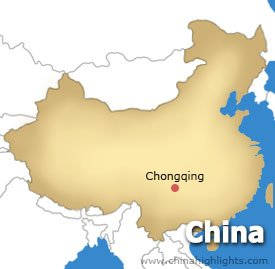 Chongqing Location Map