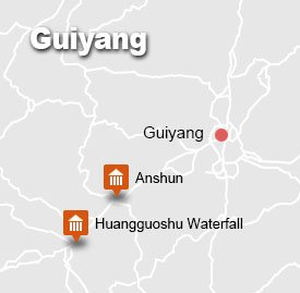 Map of Guiyang Tour
