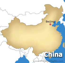 Beijing Location Map