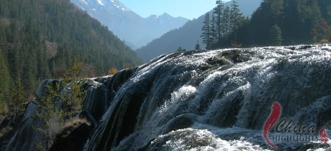 The Nuorilang waterfall is the starting spot of Rize Valley with 18 separate lakes.