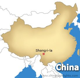 Shangri-la Location Map