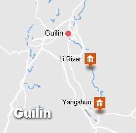 Guilin Li River Yangshuo Tour Map