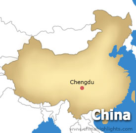 Chengdu Location Map