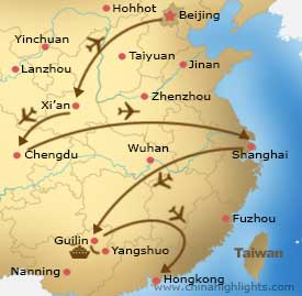Map CHT-FD-01 Beijing to Hong Kong
