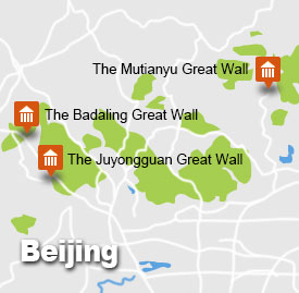 Great Wall Beijing Tour Map