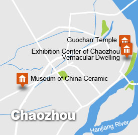 Chaozhou tour map