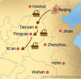 Map CHD-3 Beijing-Taiyuan-Pingyao-Xian