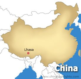 Lhasa Location Map
