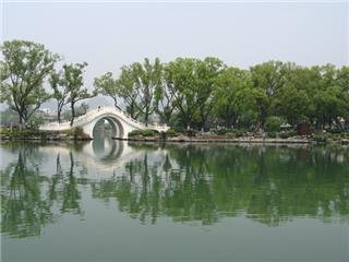The Rong Lake in the center of the city