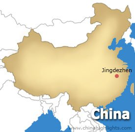 Jingde zhen Location Map