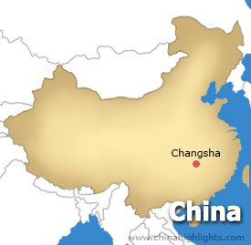 Changsha Location Map