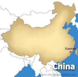 Xiamen Location Map
